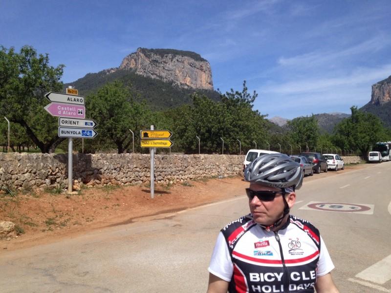 Andy, nach der Abfahrt von Orient -> Alaró, 2014