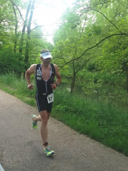 Klaus auf der Laufstrecke