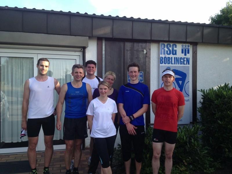 Die Triathleten nach dem Lauf-Training