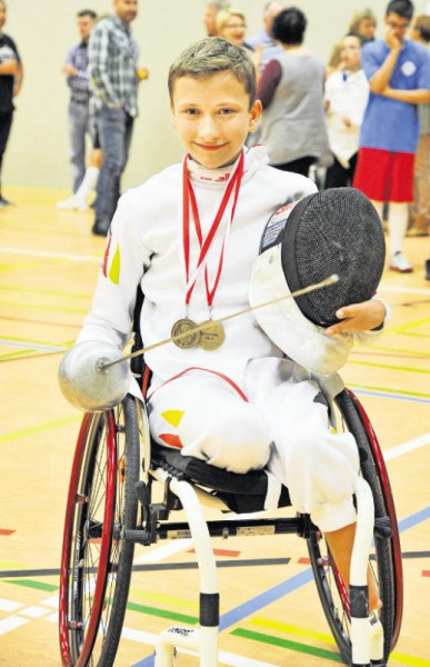Trotz Nervosität zweimal Bronze: Maurice Schmidt