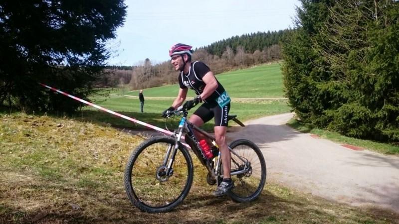 Klaus auf der Radstrecke