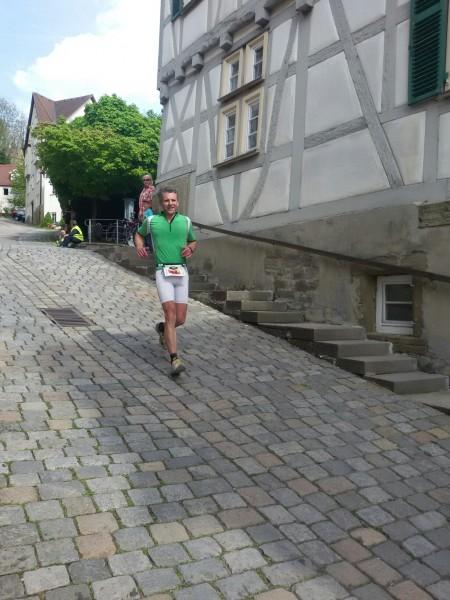 Klaus auf den letzten Metern vor dem Ziel.