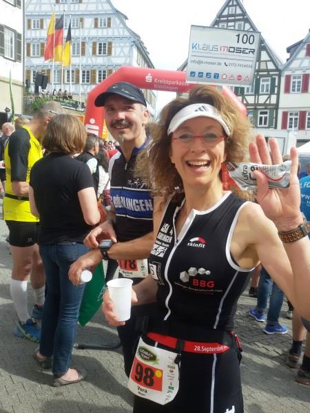 Unsere beiden Marathonis Manfred und Vera nach dem Wettkampf.