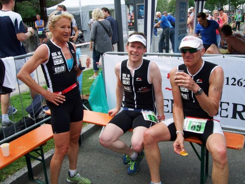 Ulli, Torsten und Micha nach dem Rennen