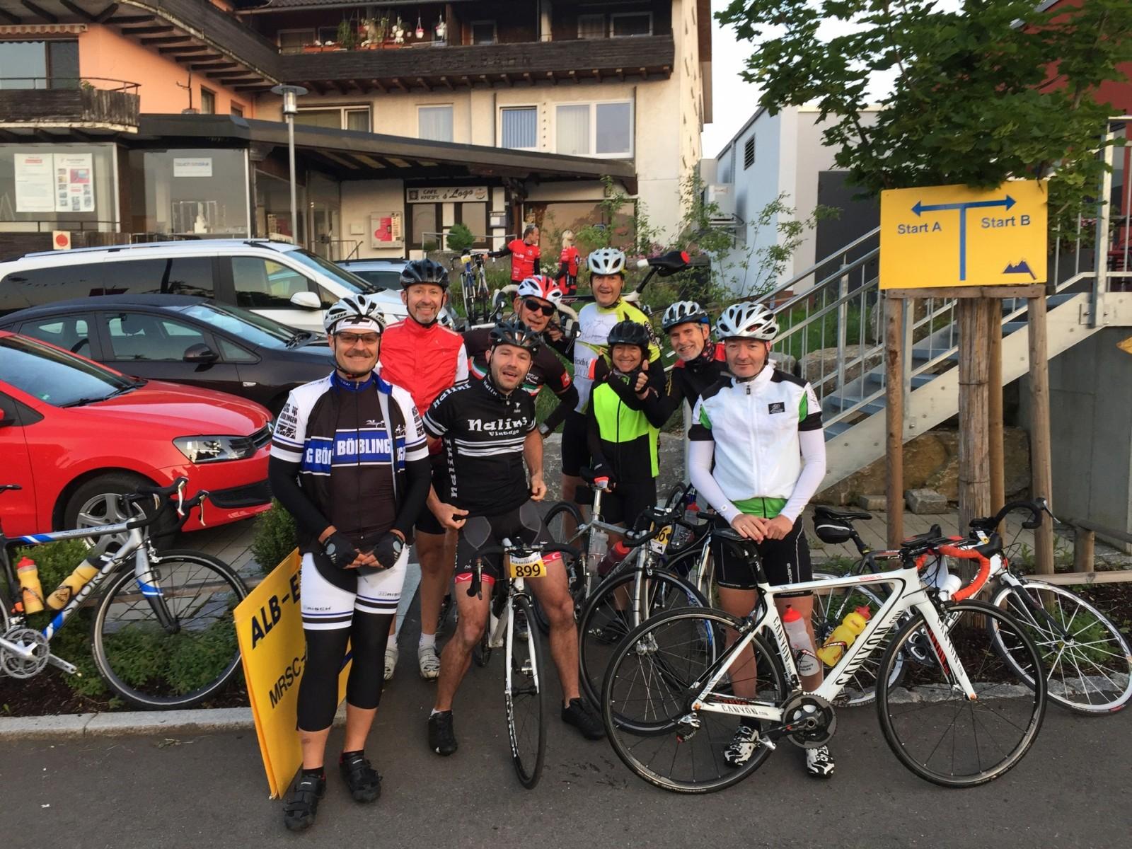 Alb-Extrem 2015, Vor dem Start... Herbert, Wolfgang, Tobias, Stefan, Siggi, Brigitte, Hartmut und Ralf