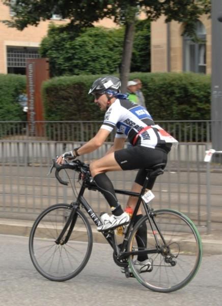 Manfred auf dem Rad.