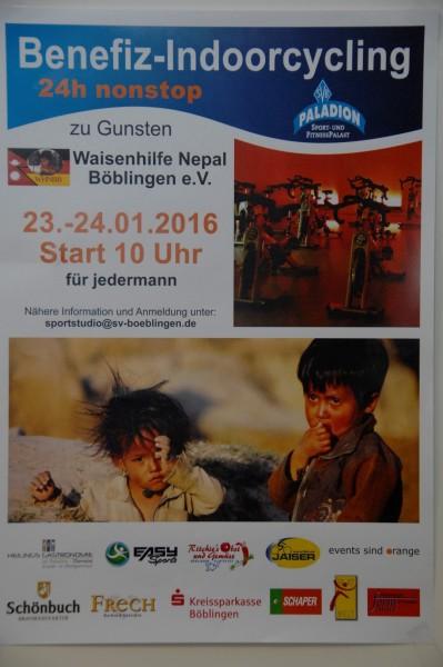 Benefiz-Indoorcycling: Cycling für die Waisenhilfe Nepal......