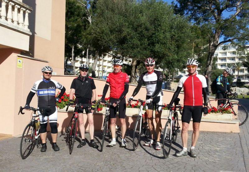 Start zur Königsetappe 2016: Herbert, Hartmut, Wolfgang, Bernd und Jürgen