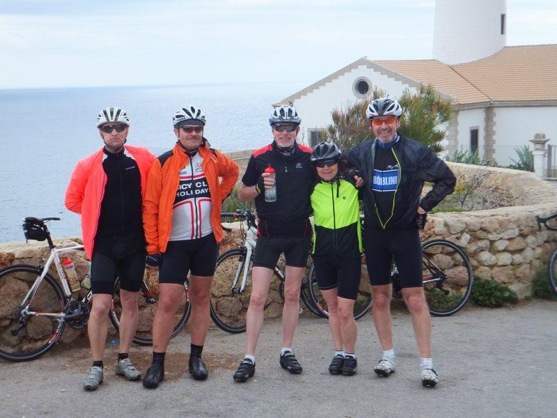 Leuchtturm Cala Rajada: Jürgen, Herbert, Hartmut, Brigitte und Wolfgang