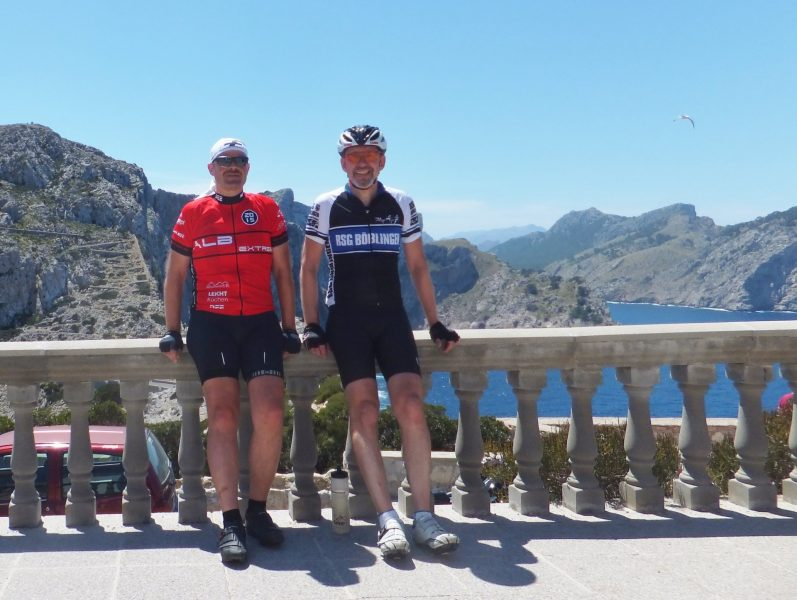 Am Cap Formentor: Herbert und Wolfgang