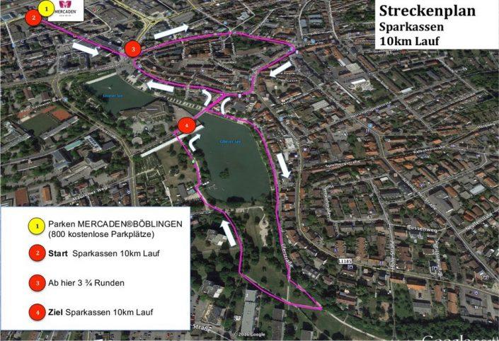 Mercaden-Stadtlauf Streckenplan